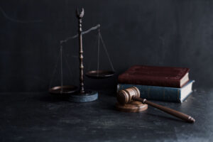Books, Scale of Justice, and Gavel